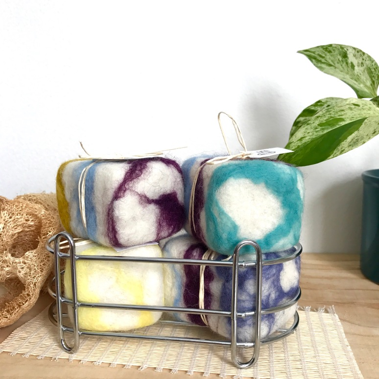 Handcrafted Essential Oil Felted Soaps.